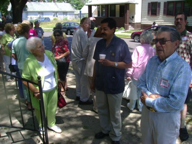 Mr. Willia Cambell (Core City Neighborhoods) welcoming in front of the convent.jpg
