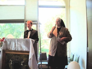 St. Casimir Reunion Breakfast - Tom Wozniak, Sister Nancy Jamroz.jpg
