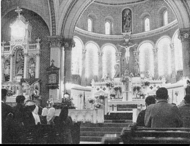 Interior of second church - 1948.jpg